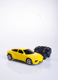 Toy car or radio control car on background. Royalty Free Stock Photography