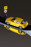 Toy car on road Royalty Free Stock Photos