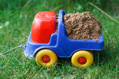 Toy car with sand Stock Photography
