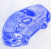 Toy car sketch Royalty Free Stock Photos