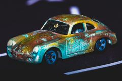 Toy Car, Sports Model with Rusty textured. stock photography