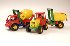 Toy car and tractor Stock Photo