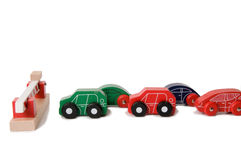 Toy car traffic jam Stock Image
