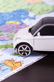Toy Car for Travel Concept Stock Image