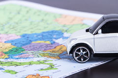Toy Car for Travel Concept Royalty Free Stock Photography
