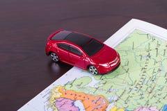 Toy Car for Travel Concept Stock Photos