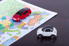 Toy Car for Travel Concept Royalty Free Stock Images