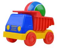 Toy car truck with ball Stock Photo