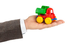 Toy car truck in hand Stock Photography
