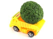 Toy car truck herb bergamot Royalty Free Stock Photo