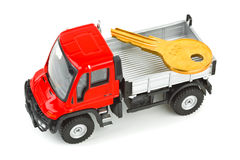 Toy car truck with key Royalty Free Stock Image