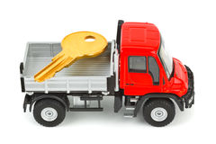 Toy car truck with key Stock Photo