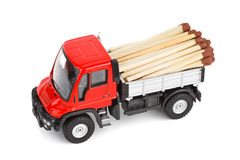 Toy car truck with match Stock Image