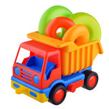 Toy car truck with rings Stock Photos