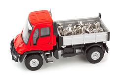 Toy car truck with screws Stock Photos