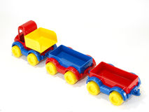 Toy car truck and trailer Stock Photo