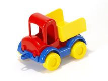 Toy car truck on white background Royalty Free Stock Images