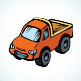 Toy car. Vector drawing Stock Photo