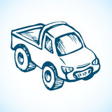 Toy car. Vector drawing Royalty Free Stock Images