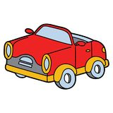 Toy car. Vector illustration of cute cartoon car for children and scrap book vector illustration