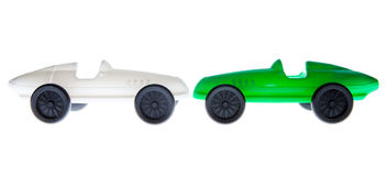 Toy Car verde y blanco Fotos de archivo libres de regalías
