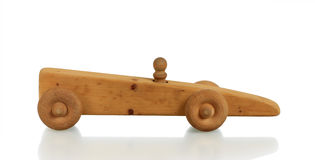 Toy Car in Wood Royalty Free Stock Image