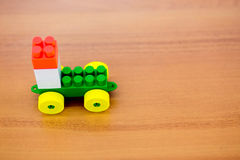 Toy car on the wood table Royalty Free Stock Image