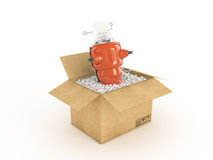 Toy in cardboard box Royalty Free Stock Images