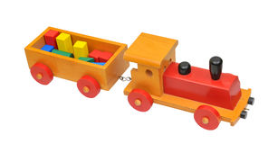Toy - cargo train Royalty Free Stock Photos