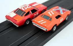Toy cars. Classic, old toy cars from the past royalty free stock images