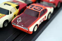 Toy cars. Classic, old toy cars from the past stock images