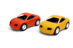Toy cars. Clear small cars toys coloured royalty free stock photography