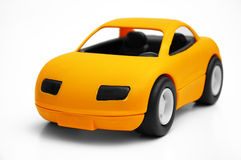 Toy Cars. Clear coloured small car toy royalty free stock images