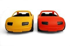 Toy Cars. Clear small cars toys coloured stock photos