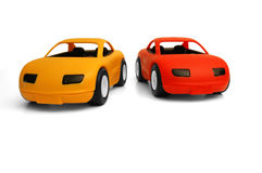 Toy Cars. Clear coloured small car toy royalty free stock photos