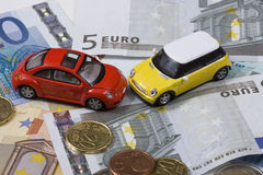 Toy cars in accident Royalty Free Stock Photography