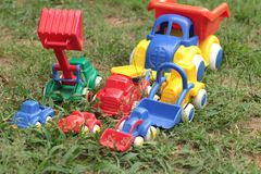 Toy cars are available for children. Stock Photos