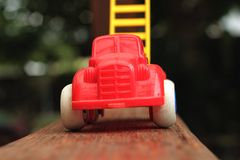 Toy cars are available for children. Stock Photo