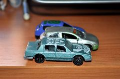 Toy cars for children royalty free stock photo