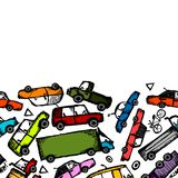 Toy cars collection, seamless pattern for your Royalty Free Stock Image
