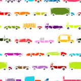 Toy cars collection, seamless pattern for your Stock Images