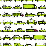 Toy cars collection, seamless pattern for your Royalty Free Stock Images