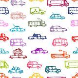 Toy cars collection, seamless pattern for your Royalty Free Stock Photo