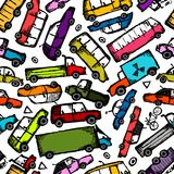 Toy cars collection, seamless pattern for your Stock Image