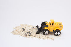 Toy cars are digging Stock Images