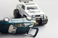 Toy cars smashed Royalty Free Stock Images
