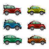 Toy cars stickers Royalty Free Stock Images