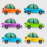 Toy cars stickers  Royalty Free Stock Photo
