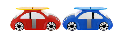 Toy Cars. On White Background Royalty Free Stock Photos