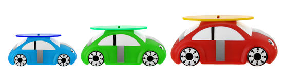 Toy Cars. On White Background Royalty Free Stock Image